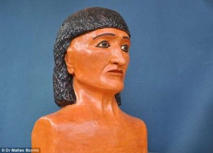reconstructed face of ancient priest from 18th dynasty see blog saving face