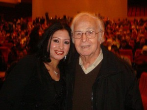 Nesrin Bahaa with the legendary Mahmoud Reda