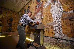 NORTH WALL SCAN KING TUTS TOMB NEFERTITI