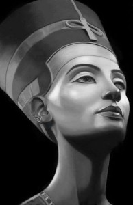 Nefertiti black and white beautiful image